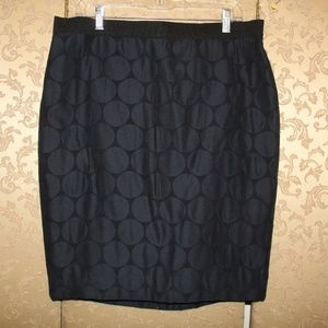 Ann Taylor NWT Blue Polka Dot Skirt 14